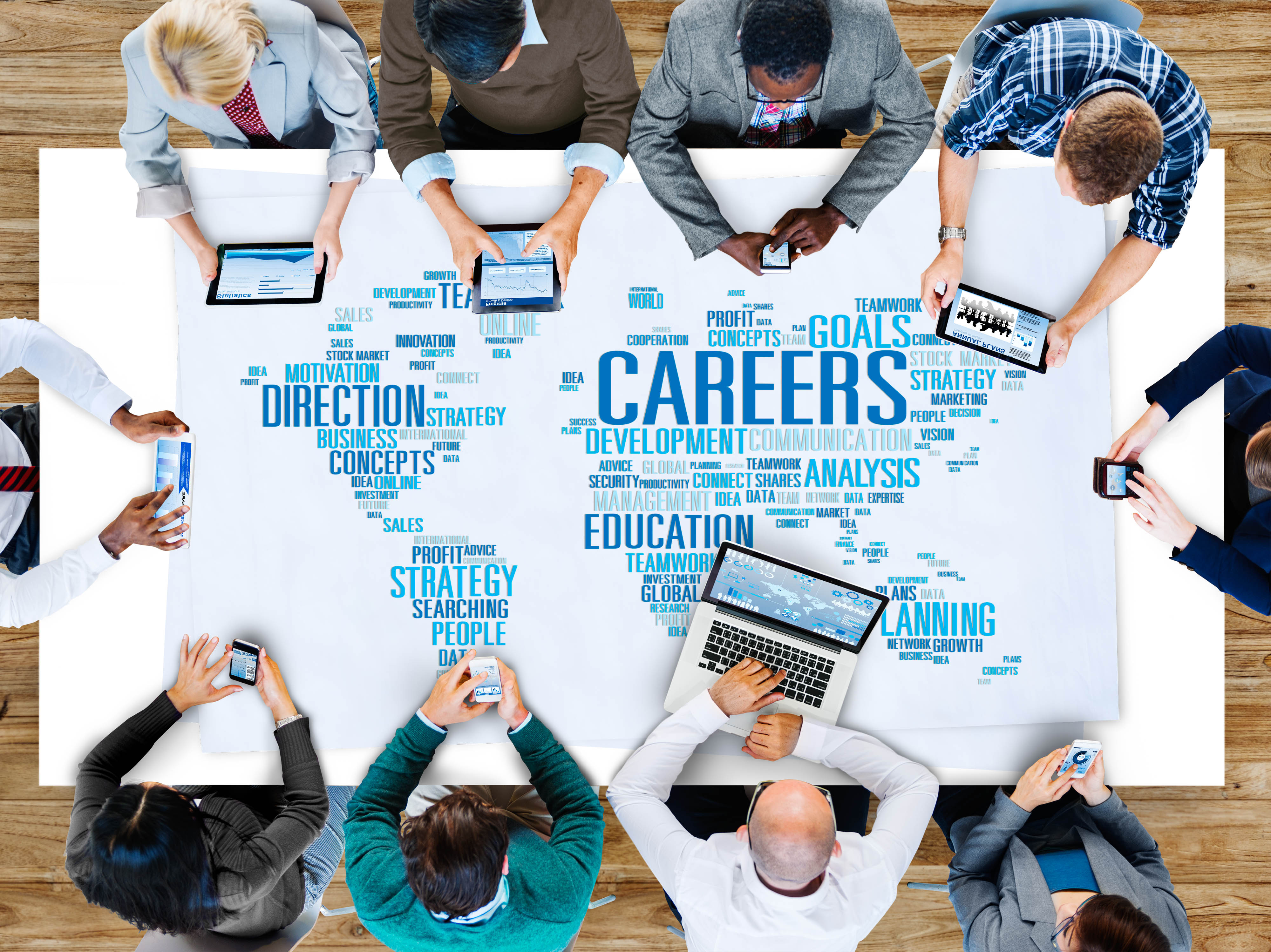 Careers Direction Job Employment Occupation Concept